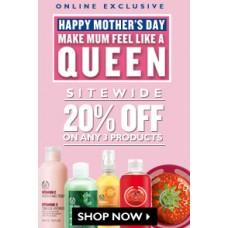 The Body Shop Offers and Deals Online - Flat 20% OFF on purchase of 3 products