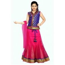 Deals, Discounts & Offers on Baby & Kids - Aarika Self Design Girl's Lehenga, Choli and Dupatta Set