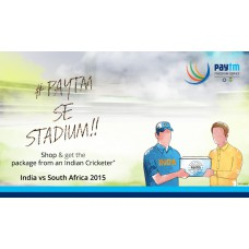 Deals, Discounts & Offers on Auto & Sports - Shop at PAYTM and get a chance to receive the product by a cricketer at the stadium