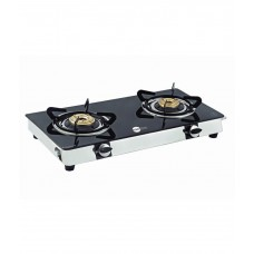 Deals, Discounts & Offers on Home & Kitchen - Flat 59% offer for Double Burner Mini Smart Toughened Glass Gas Stove