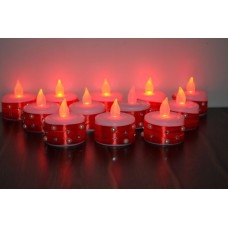 Deals, Discounts & Offers on Home Decor & Festive Needs - Red designer tealight led candles