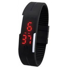 Deals, Discounts & Offers on Men -  Davidson Black Rubber Digital Men Watch at Rs 249 only