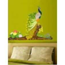 Deals, Discounts & Offers on Home Decor & Festive Needs - Arty multicolor peacock bird wall sticker