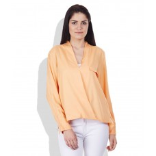 Deals, Discounts & Offers on Women Clothing - United Colors Of Benetton Orange Viscose Tops