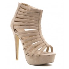 Deals, Discounts & Offers on Foot Wear - Upto 28% offer on Belle Gambe Beige Heeled Sandals