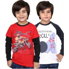 Deals, Discounts & Offers on Baby & Kids - Childrens Club Printed Boy's Round Neck T-Shirt