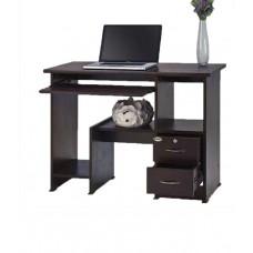 Deals, Discounts & Offers on Home & Kitchen - Alder Brown Wooden Rectangular Modern Computer Table